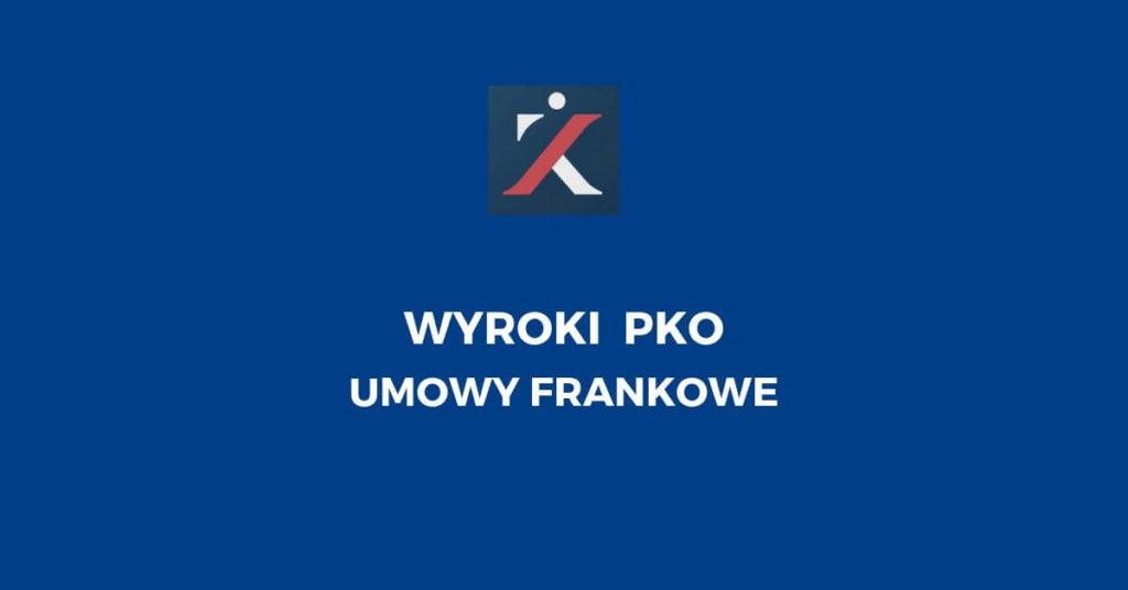 kredyty frankowe pko